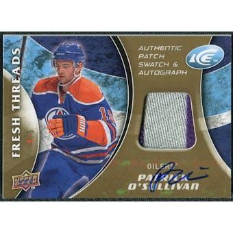 2009/10 Upper Deck Ice Fresh Threads Patches Autographs #FTPO Patrick O'Sullivan Autograph /5