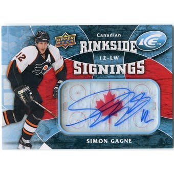 2009/10 Upper Deck Ice Rinkside Signings Canadian #RSSG Simon Gagne Autograph