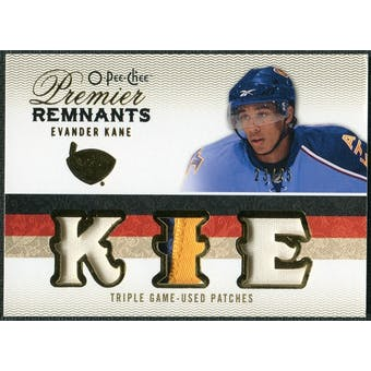 2009/10 Upper Deck OPC Premier Remnants Triples Patches #PRTEK Evander Kane /25