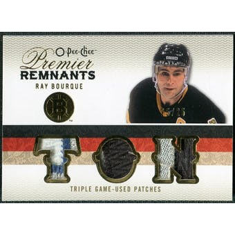 2009/10 Upper Deck OPC Premier Remnants Triples Patches #PRTRB Ray Bourque /25