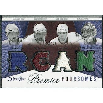 2009/10 OPC Premier Foursomes #4JLSSK Henrik Sedin Daniel Sedin Ryan Kesler Roberto Luongo /25