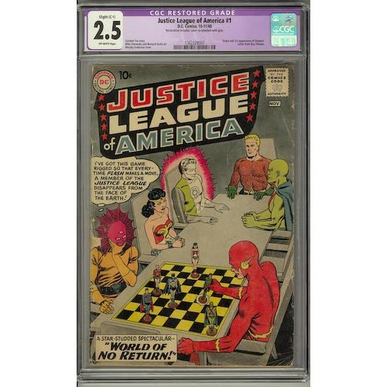 Justice League of America #1 CGC 2.5 Slight (C-1) Restoration (OW) *1362228007*