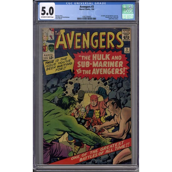 Avengers #3 CGC 5.0 (OW-W) *1362250005*