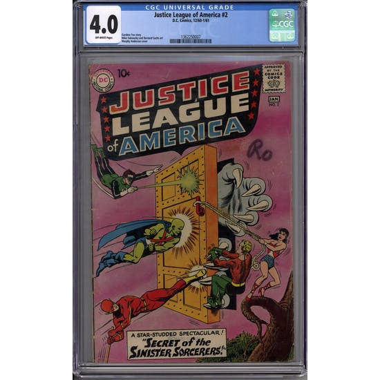 Justice League of America #2 CGC 4.0 (OW) *1362250007*