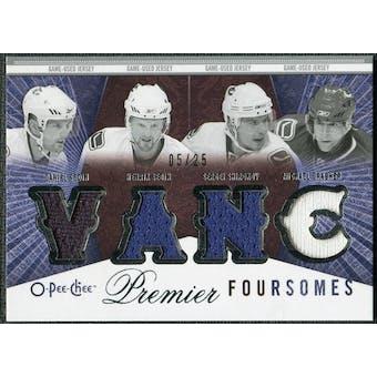 2009/10 OPC Premier Foursomes #4JSSGS Daniel Sedin Henrik Sedin Sergei Shirokov Michael Grabner /25