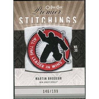 2009/10 Upper Deck OPC Premier Stitchings #PSMB Martin Brodeur /199