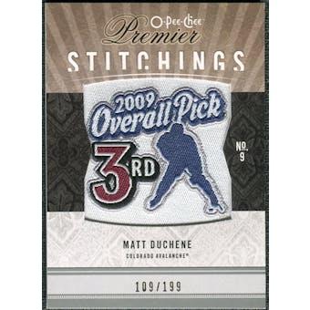 2009/10 Upper Deck OPC Premier Stitchings #PSMD Matt Duchene /199