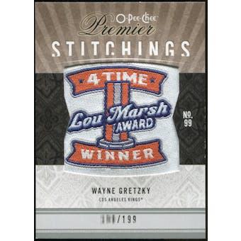 2009/10 Upper Deck OPC Premier Stitchings #PSWG Wayne Gretzky /199