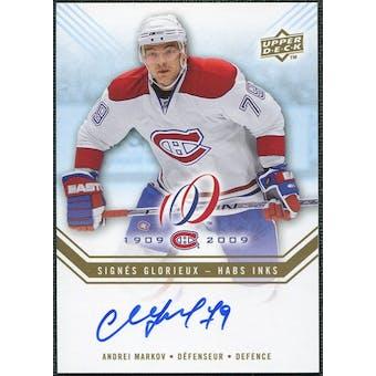 2008/09 Upper Deck Montreal Canadiens Centennial Habs INKS #HABSAM Andrei Markov Autograph