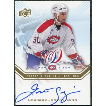 2008/09 Upper Deck Montreal Canadiens Centennial Habs INKS #HABSGG Gaston Gingras Autograph