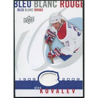 2008/09 Upper Deck Montreal Canadiens Centennial Le Bleu Blanc Rouge Jerseys #LBBRAK Alex Kovalev