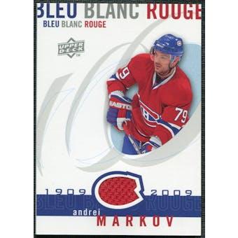 2008/09 Upper Deck Montreal Canadiens Centennial Le Bleu Blanc Rouge Jerseys #LBBRAM Andrei Markov