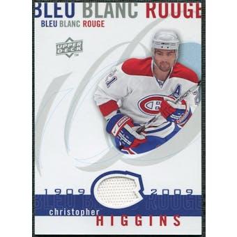 2008/09 Upper Deck Montreal Canadiens Centennial Le Bleu Blanc Rouge Jerseys #LBBRCH Christopher Higgins