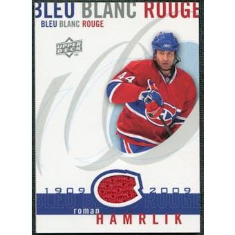 2008/09 Upper Deck Montreal Canadiens Centennial Le Bleu Blanc Rouge Jerseys #LBBRHA Roman Hamrlik