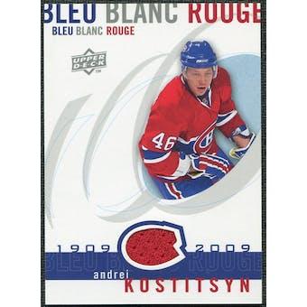 2008/09 Upper Deck Montreal Canadiens Centennial Le Bleu Blanc Rouge Jerseys #LBBRKO Andrei Kostitsyn
