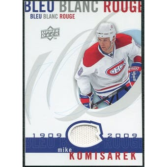 2008/09 Upper Deck Montreal Canadiens Centennial Le Bleu Blanc Rouge Jerseys #LBBRMI Mike Komisarek