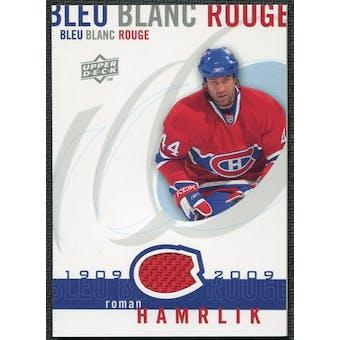 2008/09 Upper Deck Montreal Canadiens Centennial Le Bleu Blanc Rouge Jerseys #LBBRRH Roman Hamrlik