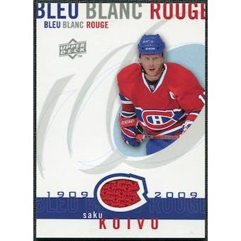 2008/09 Upper Deck Montreal Canadiens Centennial Le Bleu Blanc Rouge Jerseys #LBBRSK Saku Koivu