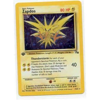 Pokemon Fossil 1st Edition Single Zapdos 15/62