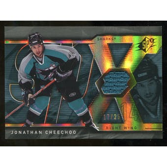 2007/08 Upper Deck SPx Spectrum #16 Jonathan Cheechoo Jersey /25