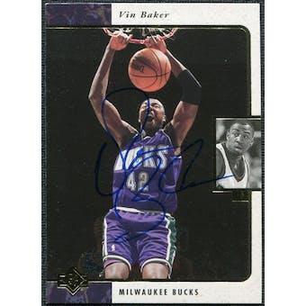 1997/98 Upper Deck SP Authentic BuyBack #3 Vin Baker 95-6 Autograph /71