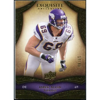 2009 Upper Deck Exquisite Collection #89 Jared Allen /80