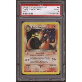 Pokemon Team Rocket 1st Edition Dark Charizard 4/82 PSA 9