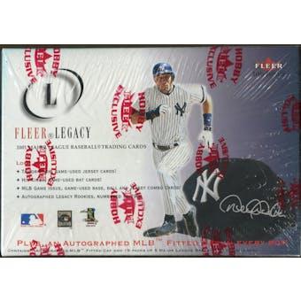 2001 Fleer Legacy Baseball Hobby Box