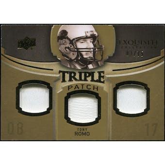 2010 Upper Deck Exquisite Collection Single Player Triple Patch #ETPTR Tony Romo /75