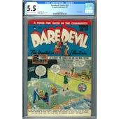 Daredevil Comics #53 CGC 5.5 (C-OW) *1393405009*