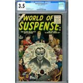 World of Suspense #1 CGC 3.5 (OW-W) *1393405013*