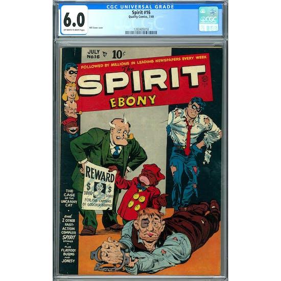 Spirit #16 CGC 6.0 (OW-W) *1393405018*