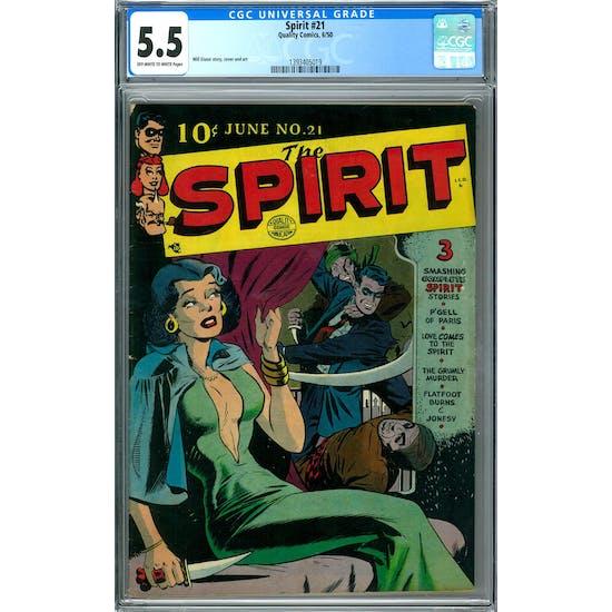 Spirit #21 CGC 5.5 (OW-W) *1393405019*