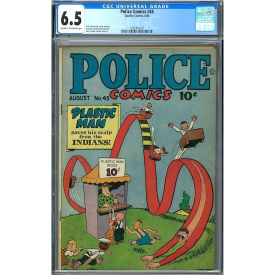 Police Comics #45 CGC 6.5 (C-OW) *1393405021*