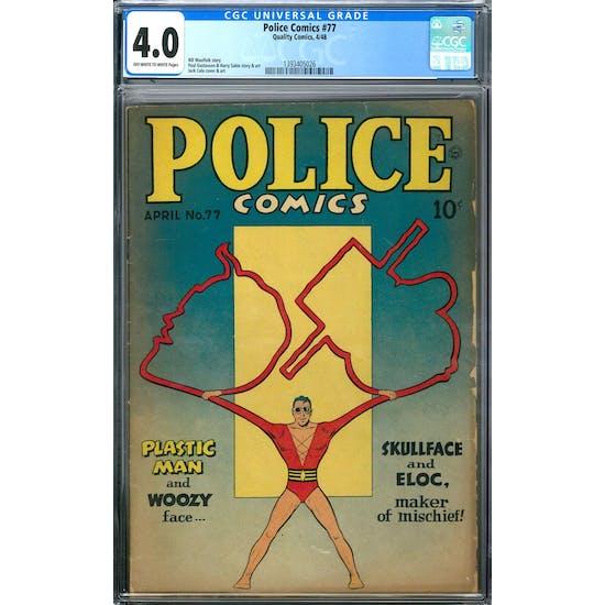 Police Comics #77 CGC 4.0 (OW-W) *1393405026*