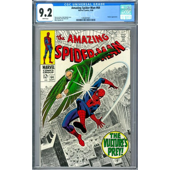 Amazing Spider-Man #64 CGC 9.2 (W) *1393407001*