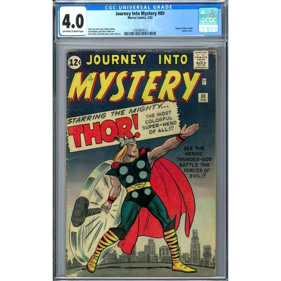 Journey Into Mystery #89 CGC 4.0 (OW-W) *1393407013*