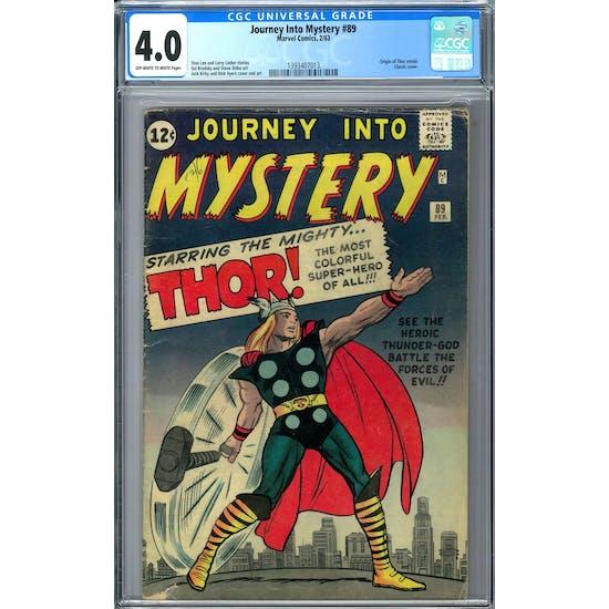 Journey Into Mystery #89 CGC 4.0 (OW-W) *1393407013*