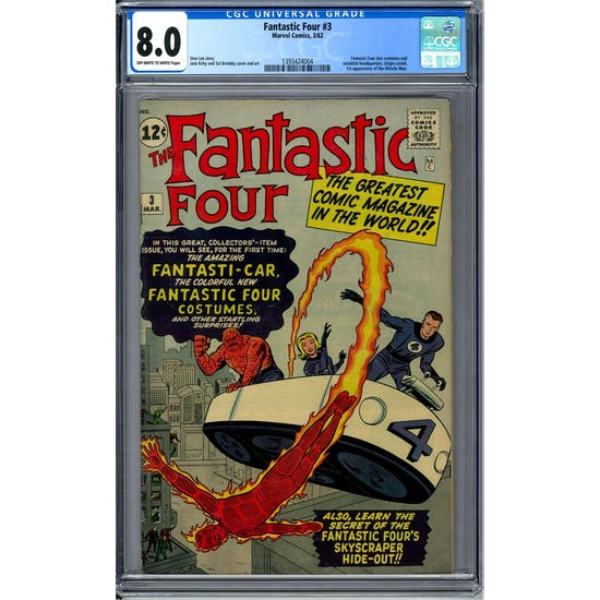 Fantastic Four #3 CGC 8.0 (OW-W) *1393424004*