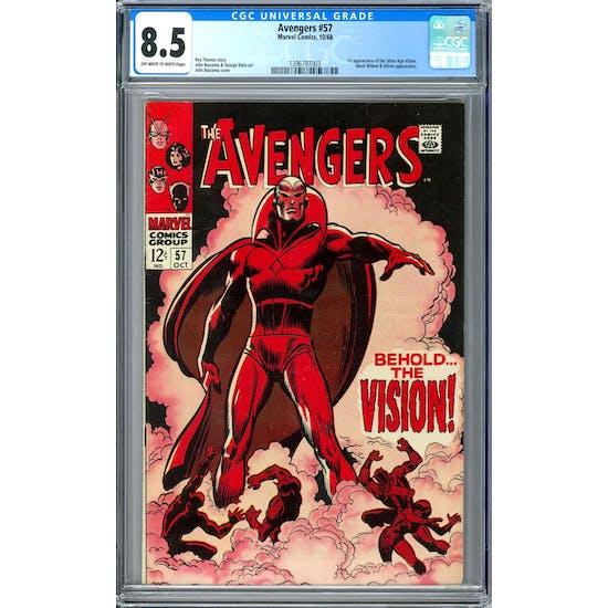 Avengers #57 CGC 8.5 (OW-W) *1396797003*