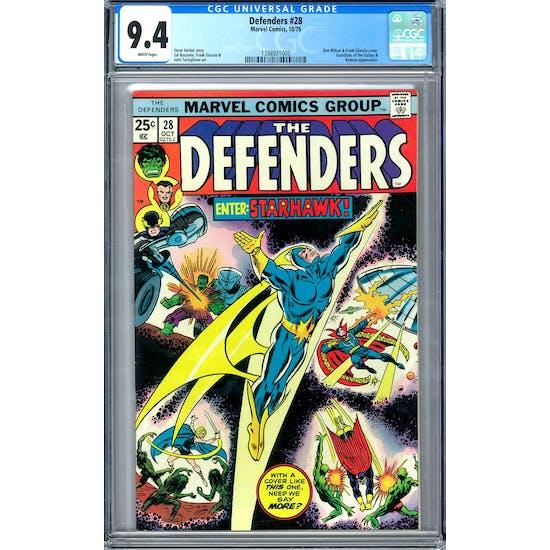 Defenders #28 CGC 9.4 (W) *1398931005*