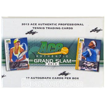 2013 Leaf Ace Authentic Grand Slam Tennis Hobby Box 10 AUTOS PER BOX!!!