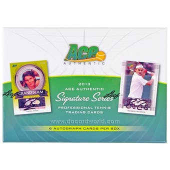 2013 Leaf Ace Authentic Signature Series Tennis Hobby Box