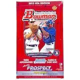 2013 Bowman Baseball Jumbo Box