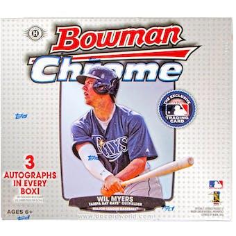 2013 Bowman Chrome Baseball Jumbo Box