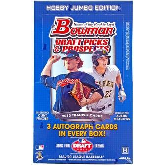 2013 Bowman Draft Picks & Prospects Baseball Jumbo Box