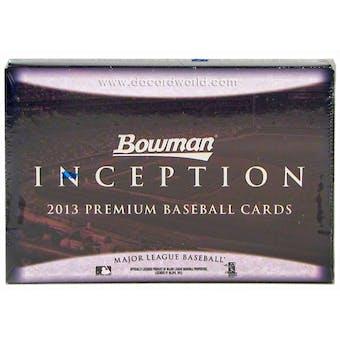 2013 Bowman Inception Baseball Hobby Box