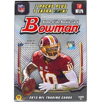 2013 Bowman Football 8-Pack Box