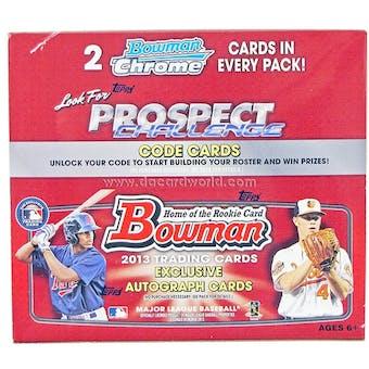 2013 Bowman Baseball Retail 24-Pack Box
