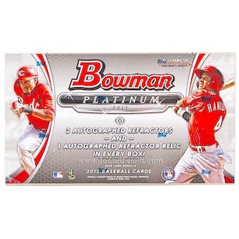 2013 Bowman Platinum Baseball Hobby Box